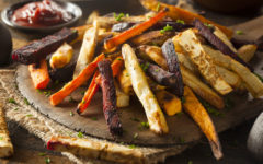 Oven Baked Vegetable Fries with Carrots, Potato, and Beets
